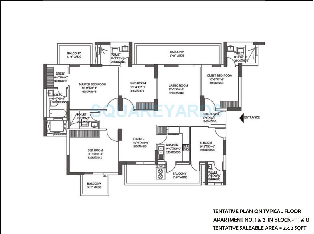 dlf the ultima apartment 4bhk 2552sqft 1