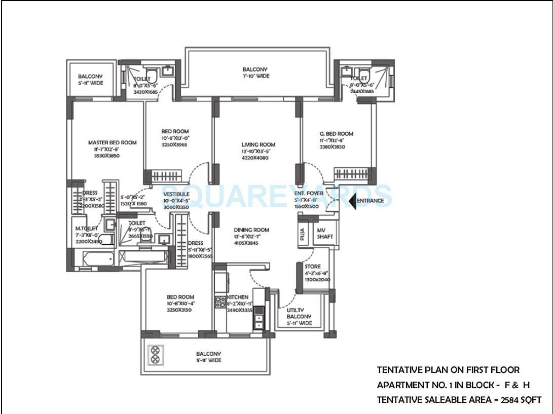 dlf the ultima apartment 4bhk 2584sqft 1