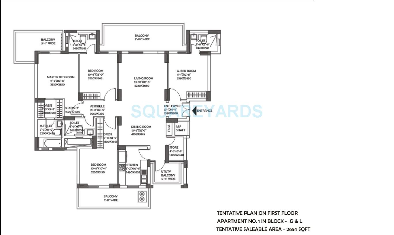 dlf the ultima apartment 4bhk 2654sqft 1