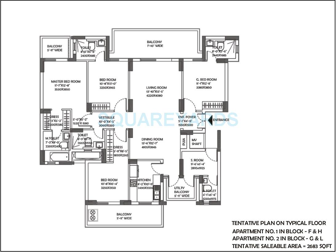 dlf the ultima apartment 4bhk 2683sqft 1