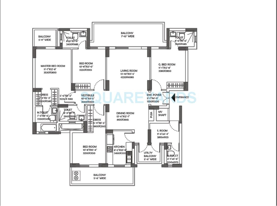 dlf the ultima apartment 4bhk 2752sqft 1