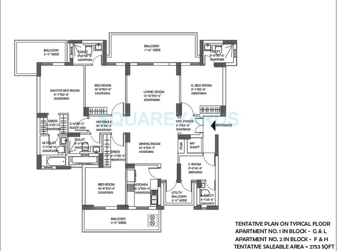 dlf the ultima apartment 4bhk 2753sqft 1