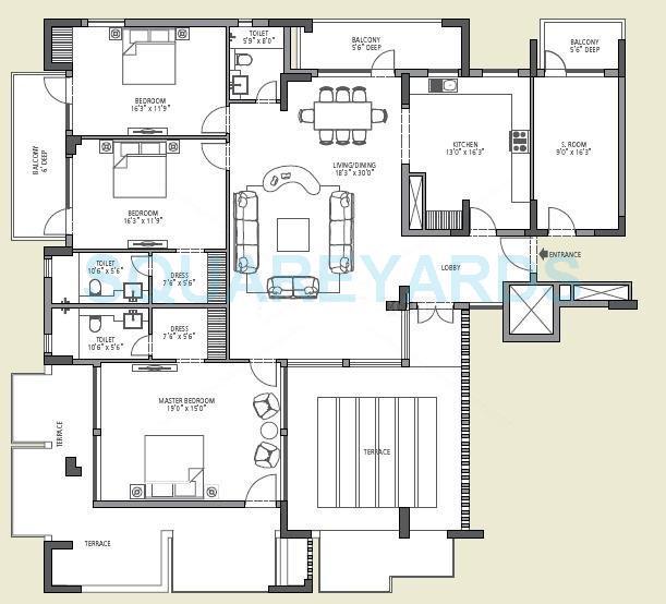 emaar mgf the vilas apartment 3bhk 2735sqft 1