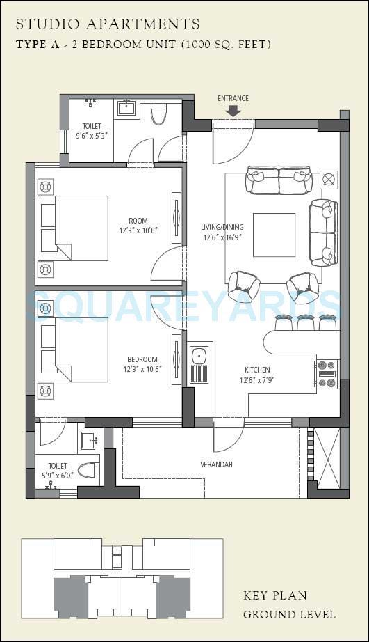 1000 square feet apartment floor plans gurus floor for 1000 sq ft flat plans