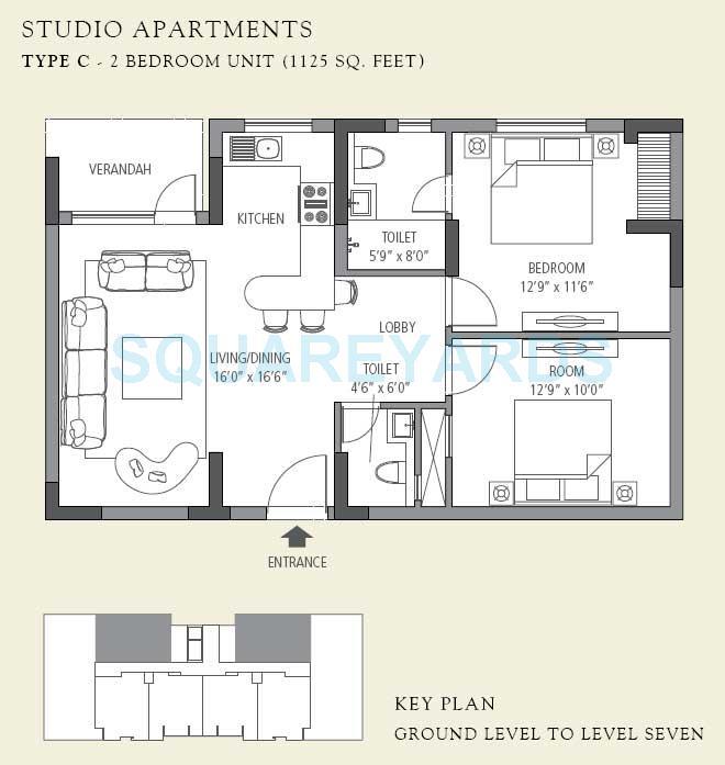 emaar mgf the villas apartment 2bhk 1125sqft 1
