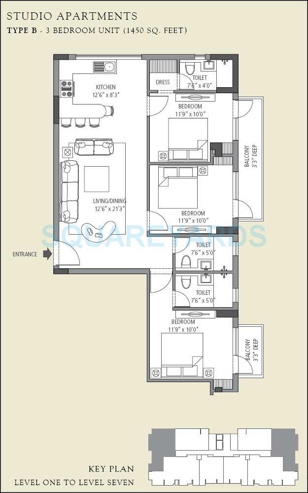 emaar mgf the villas apartment 3bhk 1450sqft 1