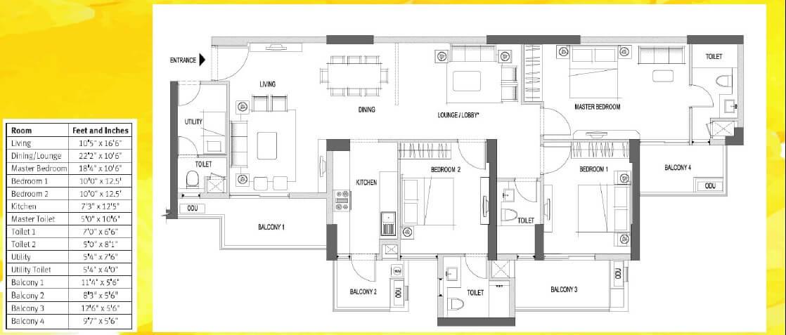 emaar palm heights apartment 3bhk sq 2000sqft 41