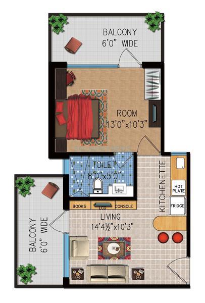 eminence kimberly suites apartment 1bhk 795sqft 1