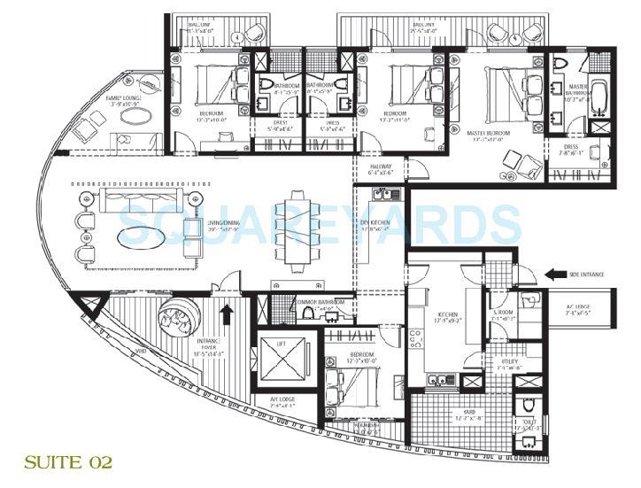 emmar mgf the palm drive the sky terraces apartment 4bedroom 4bathroom 3600sqft 1