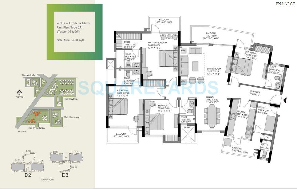 experion the heart song apartment 4bhk sq 2631sqft 1