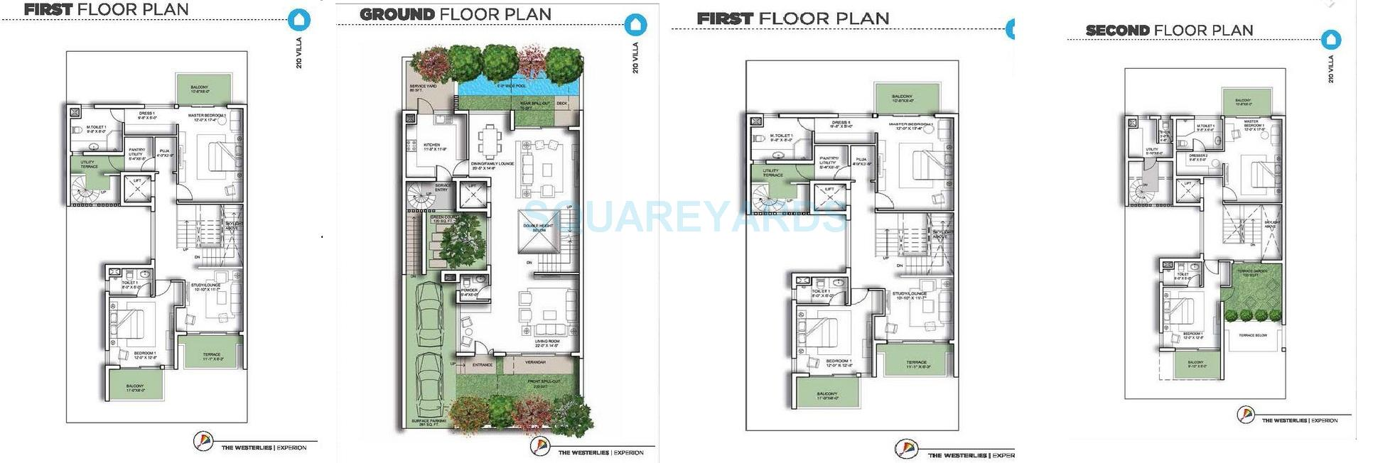 experion the westerlies villa 4bhk st sq 5222sqft 1