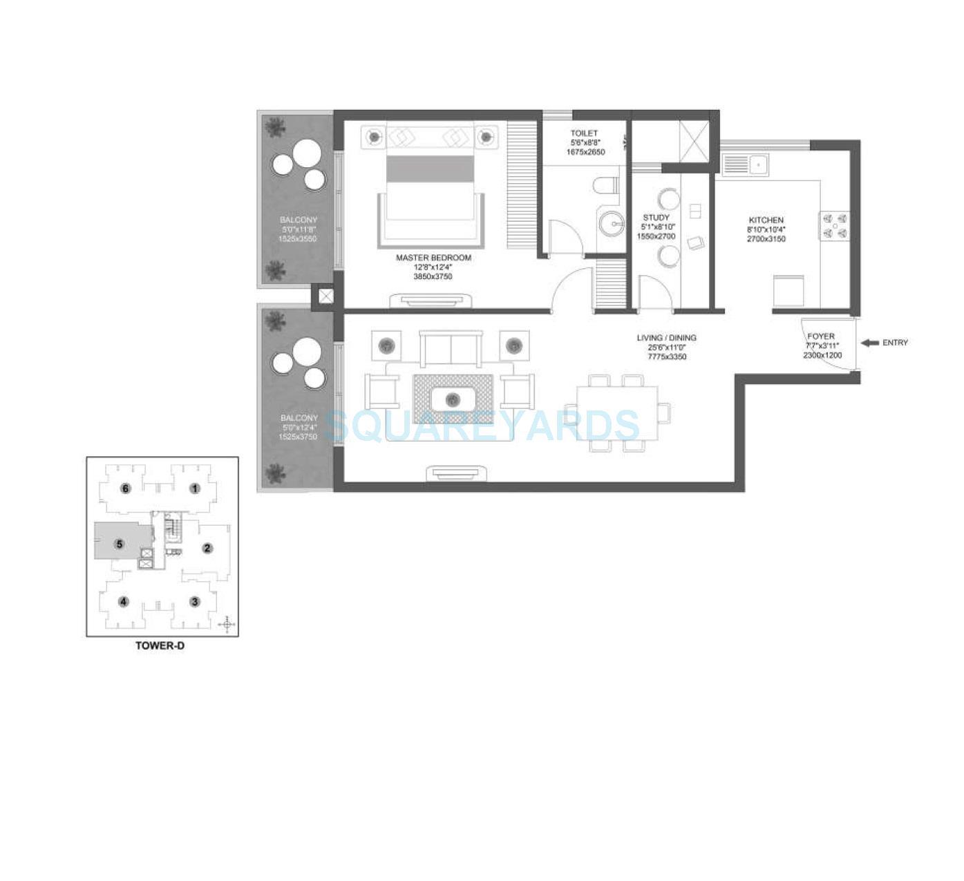 godrej aria apartment 1bhk 1107sqft 1