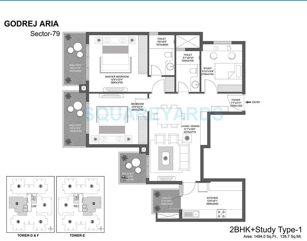 godrej aria apartment 2bhk st 1494sqft 1