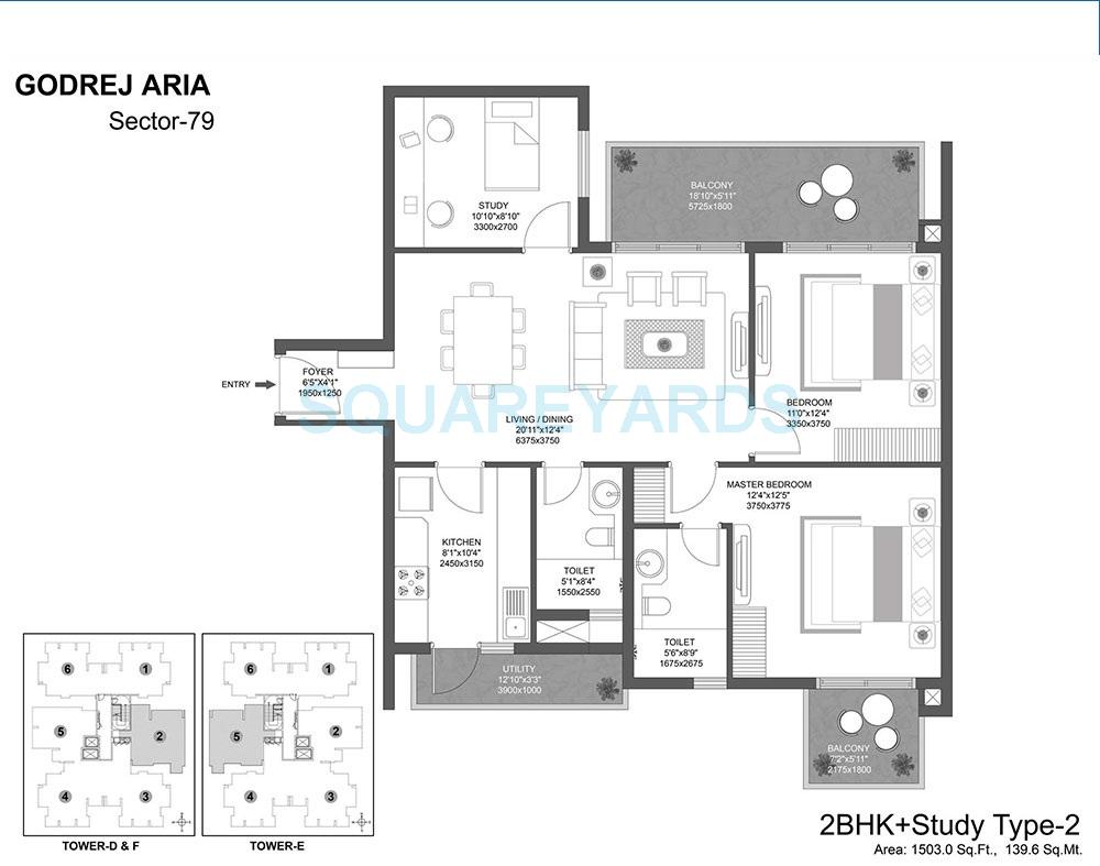 godrej aria apartment 2bhk st 1503sqft 1