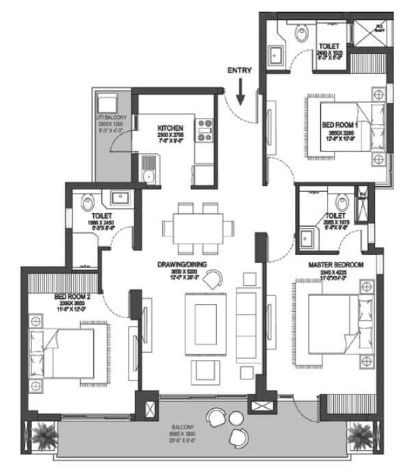 godrej meridien apartment 3bhk 1202sqft 1