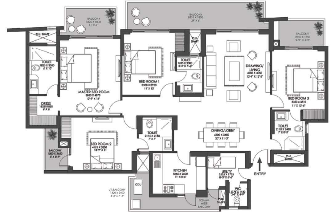 godrej meridien apartment 4bhk sq 2026sqft 1