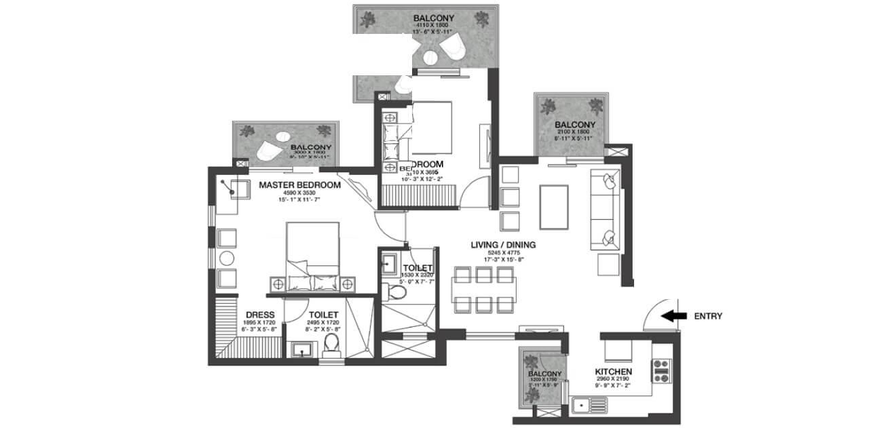 godrej nature plus apartment 2bhk 822sqft 1