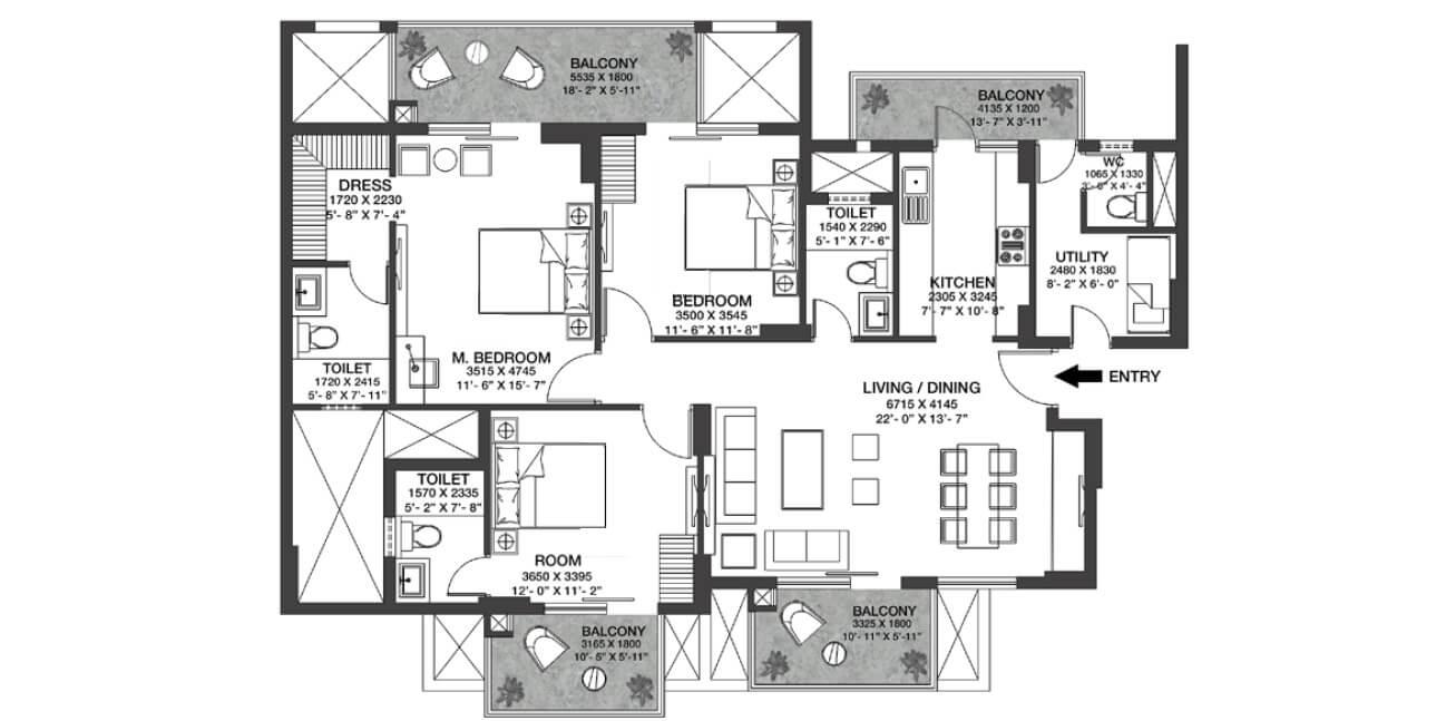 godrej nature plus apartment 3bhk 1159sqft 1