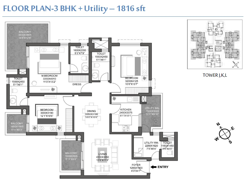 godrej signature homes apartment 3bhk 1816sqft 1