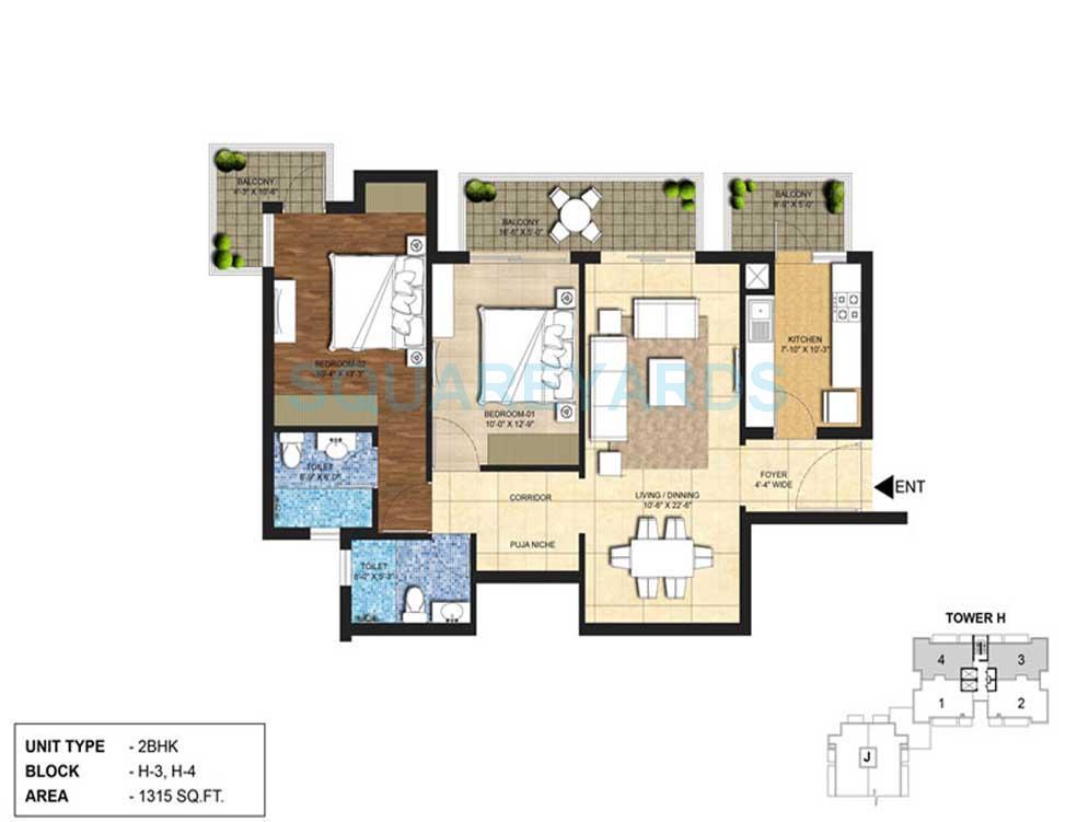 indiabulls centrum park apartment 2bhk 1315sqft 1