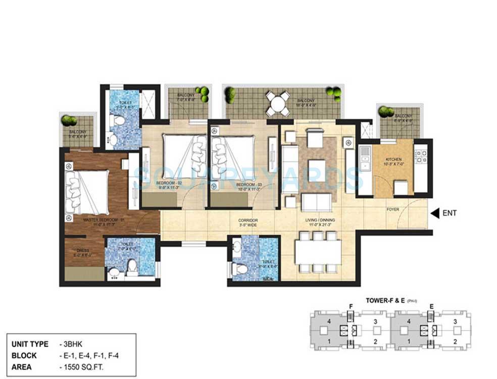 indiabulls centrum park apartment 3bhk 1550sqft 2
