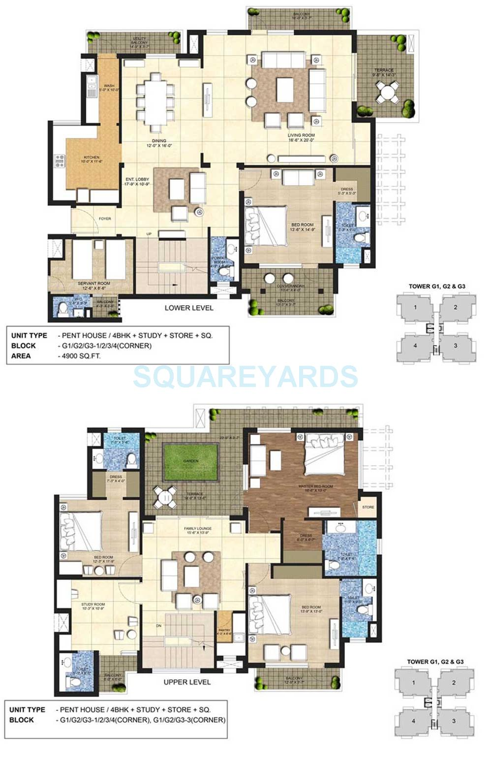 indiabulls centrum park penthouse 4bhk sq st 4900sqft 1