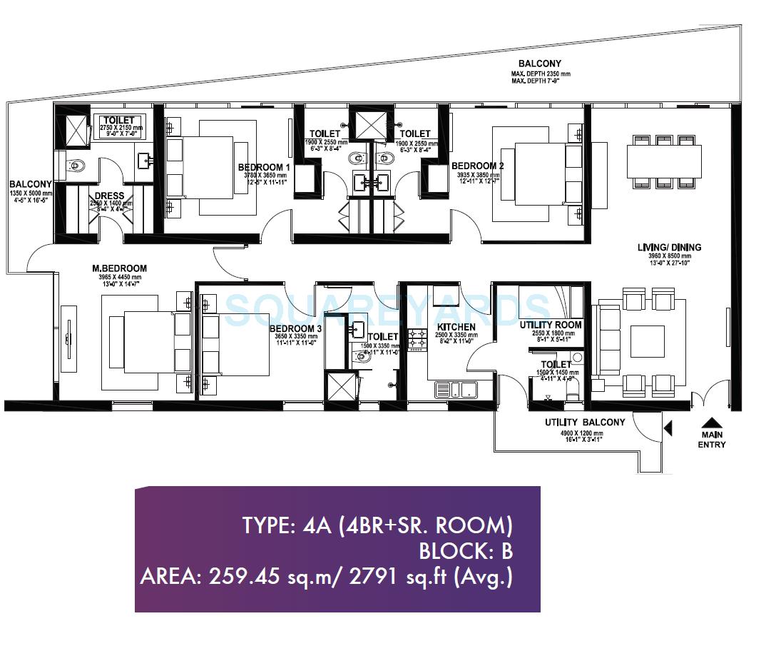 ireo skyon apartment 4bhk 2791sqft 1