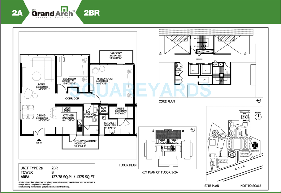 ireo the grand arch apartment 2bhk 1375sqft 1