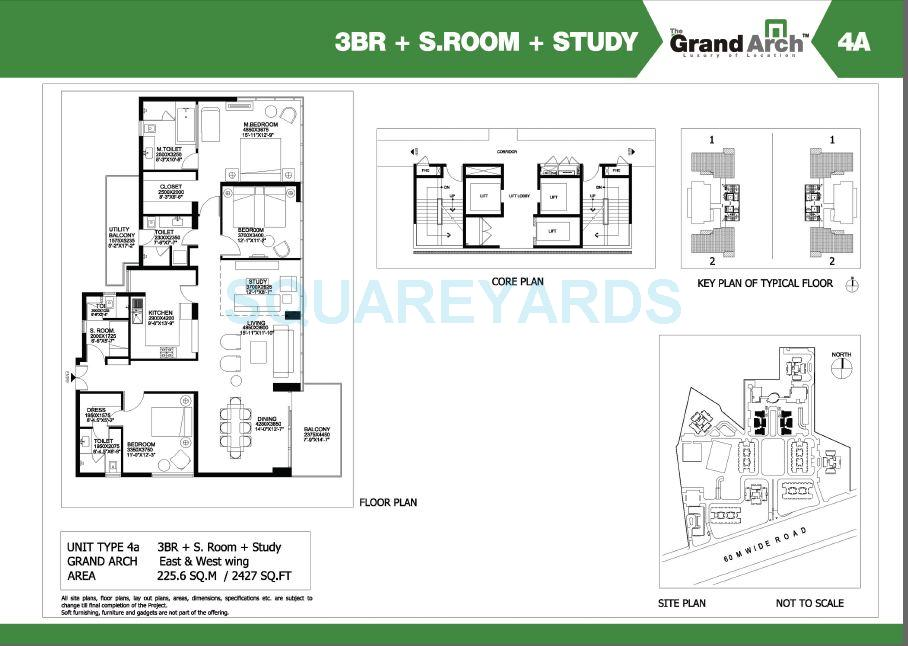 ireo the grand arch apartment 3bhk sroom study 2427sqft 1