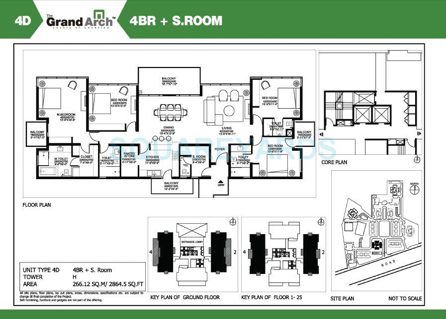 ireo the grand arch apartment 4bhk sroom 2864 5sqft 1
