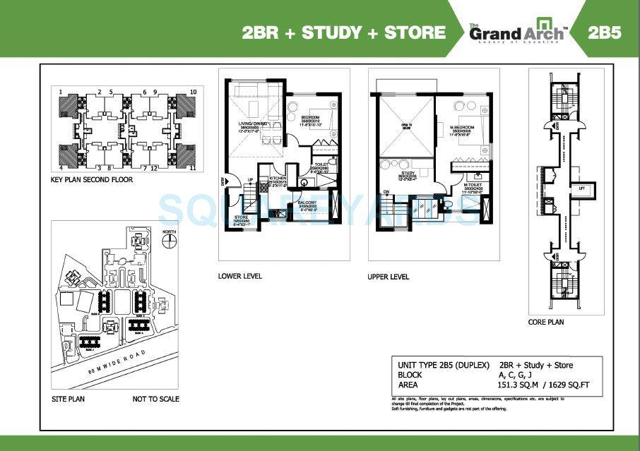 ireo the grand arch duplex apartment 2bhk study store 1629sqft 1