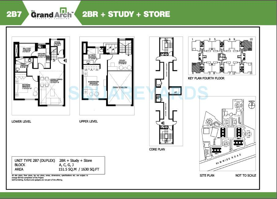 ireo the grand arch duplex apartment 2bhk study store 1630sqft 1