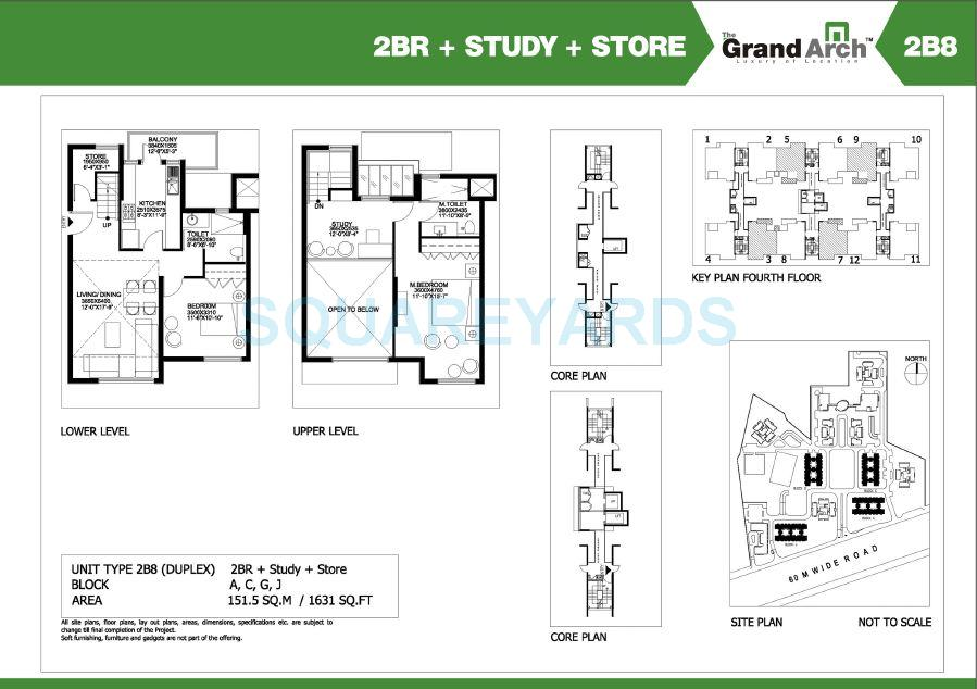 ireo the grand arch duplex apartment 2bhk study store 1631sqft 1