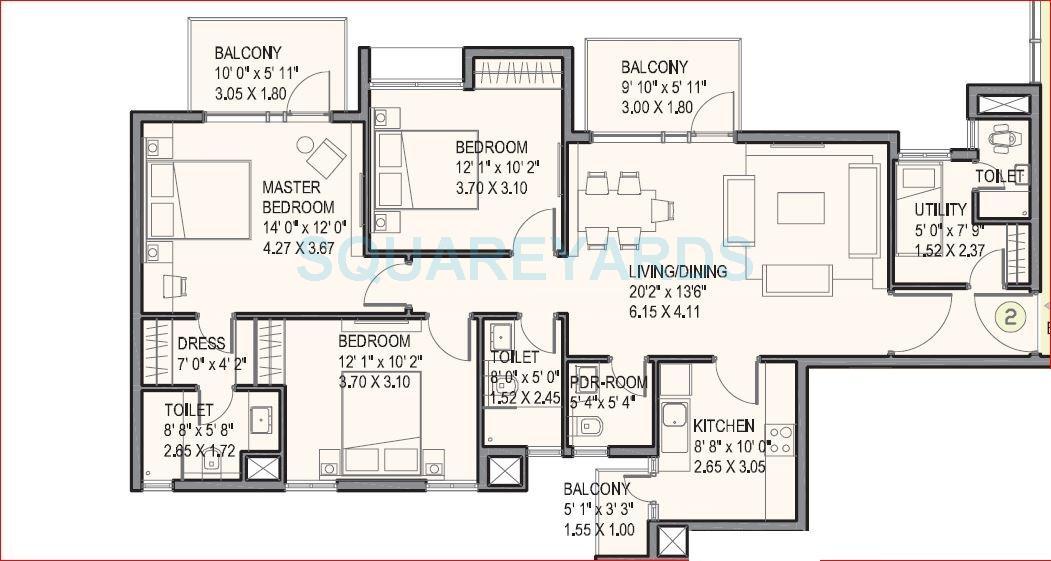 ireo uptown apartment 3bhk sq 1670sqft 1