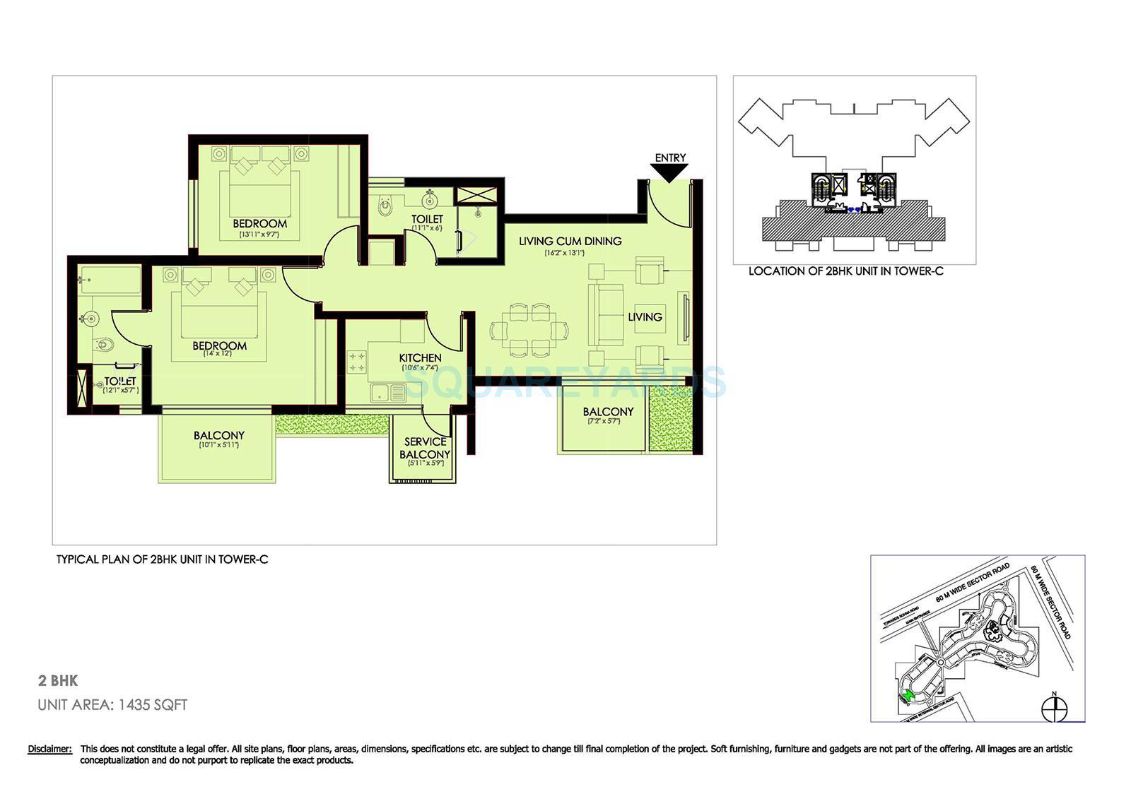 ireo victory valley apartment 2bhk 1435sqft 1