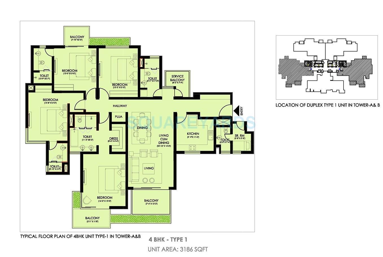ireo victory valley apartment 4bhk 3186sqft 1