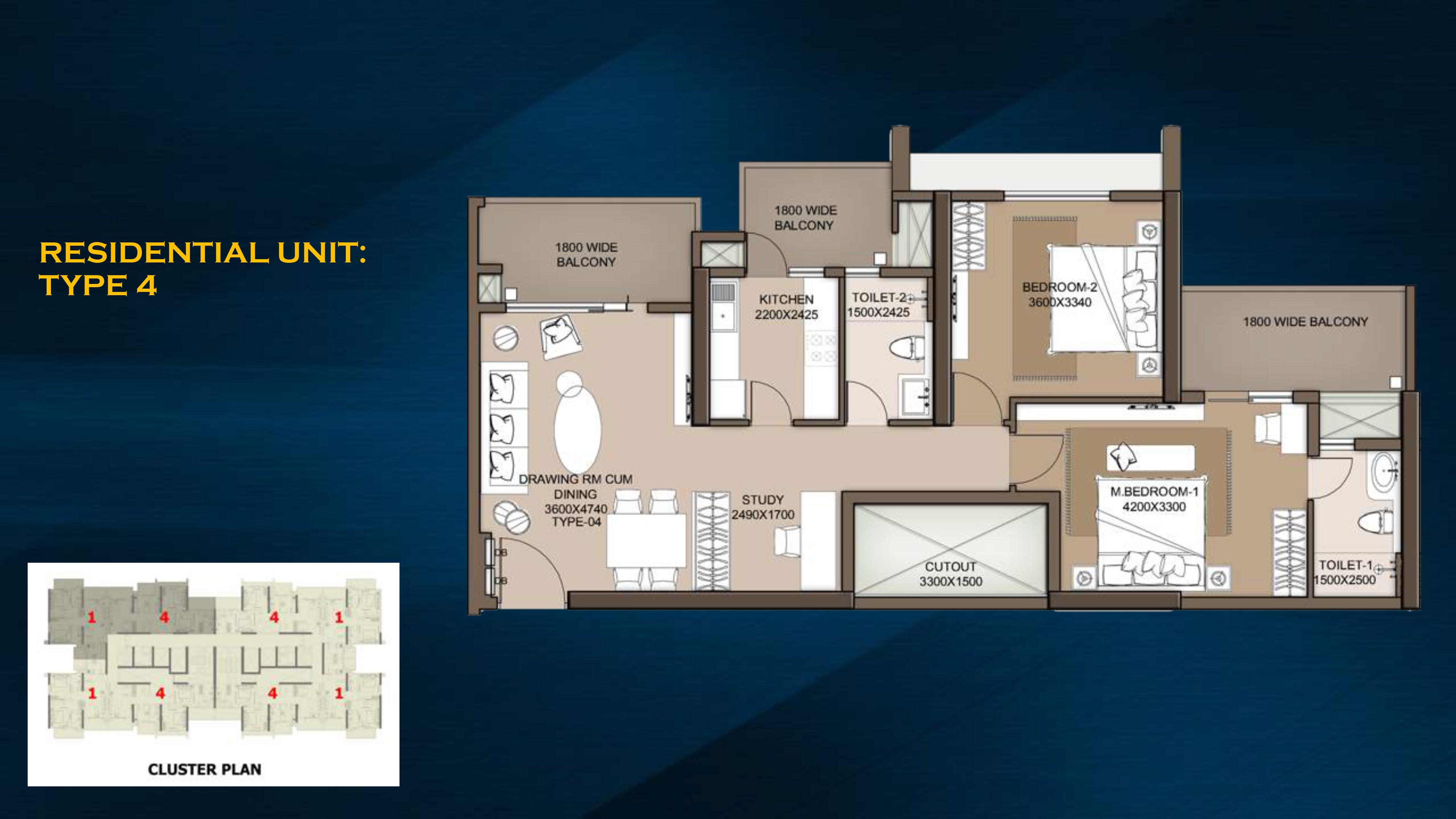 m3m city heights apartment 2bhk 1450sqft 1
