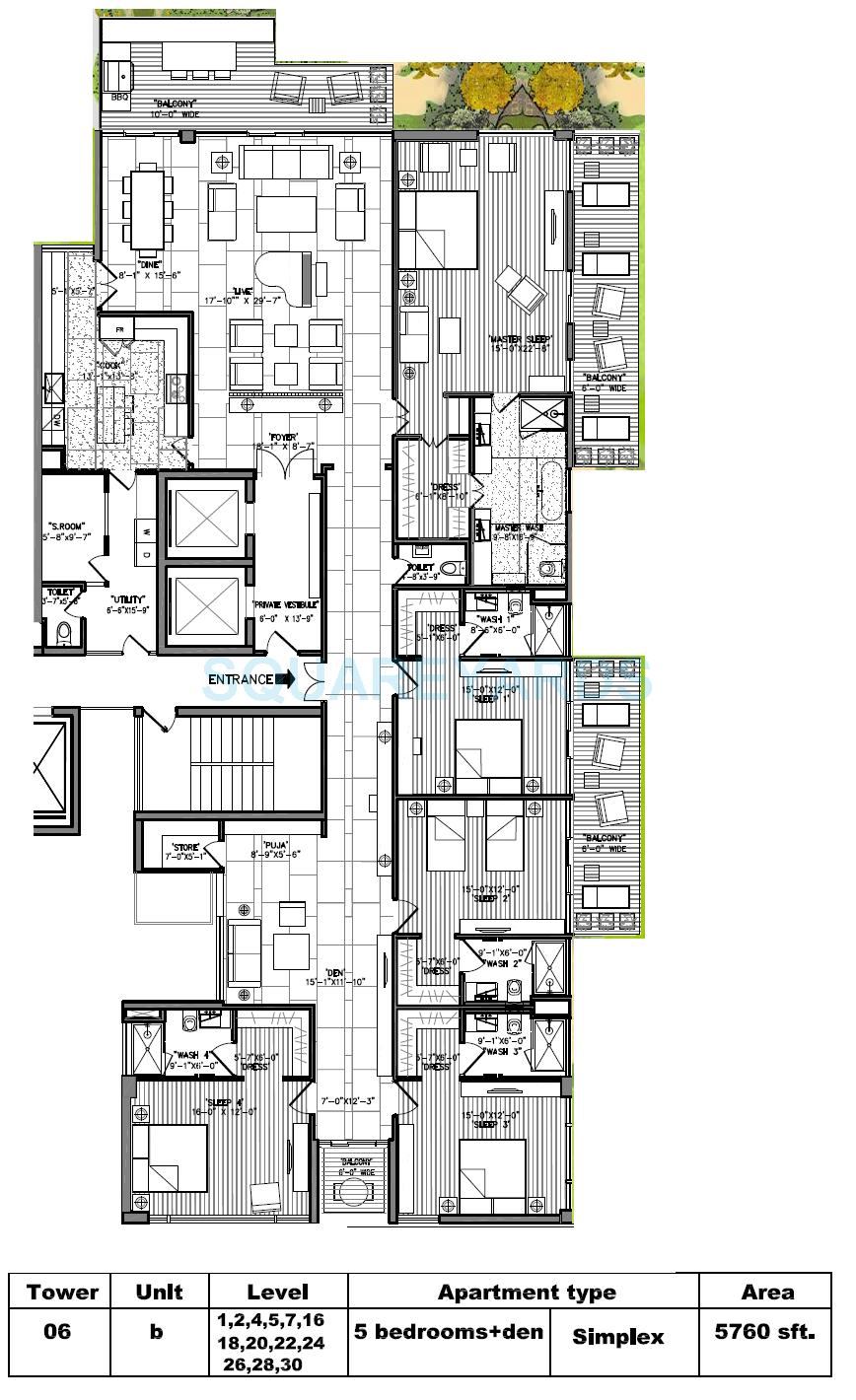 m3m golf estate apartment 5bhk 5760sqft 1