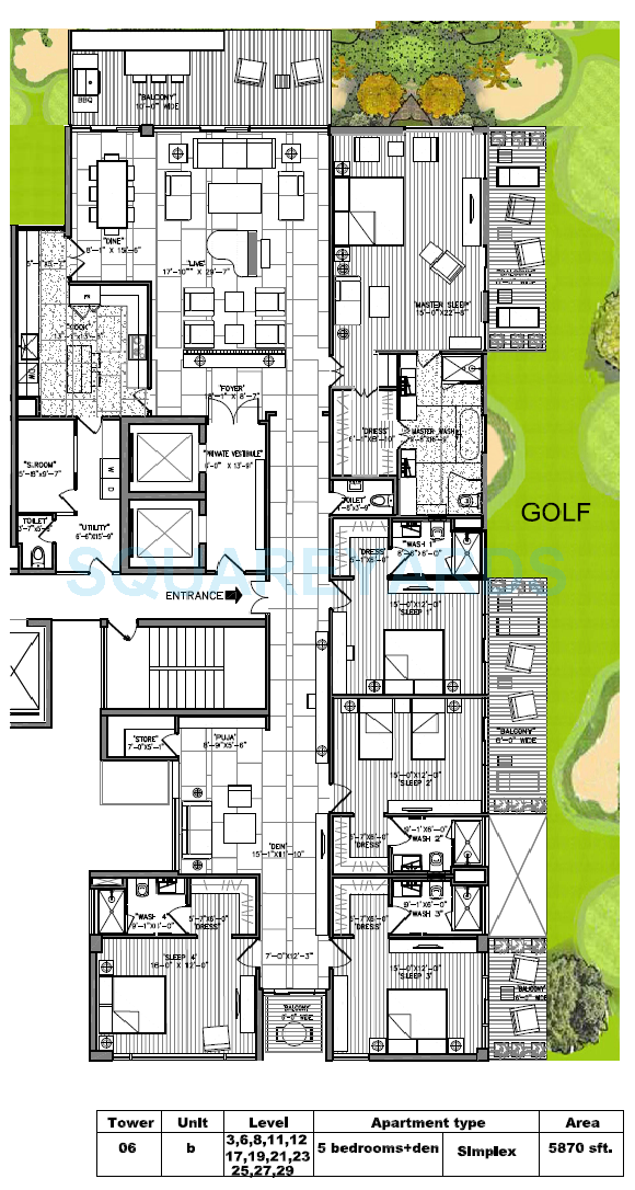 m3m golf estate apartment 5bhk 5870sqft 1