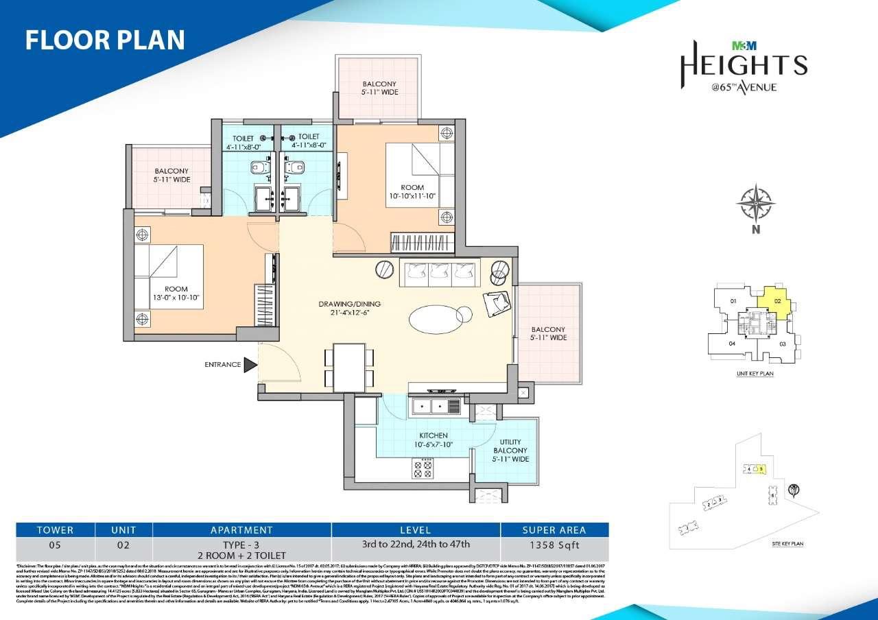 m3m heights apartment 2 bhk 1358sqft 20201026111024