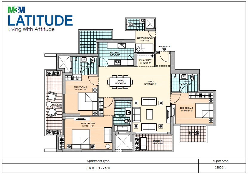 m3m latitude apartment 3bhk sq 2380sqft 1