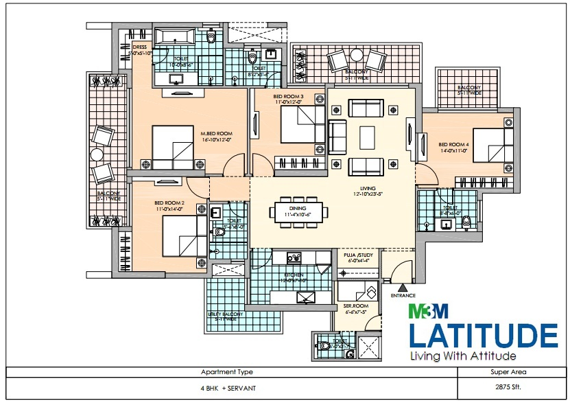 m3m latitude apartment 4bhk sq 2875sqft 1