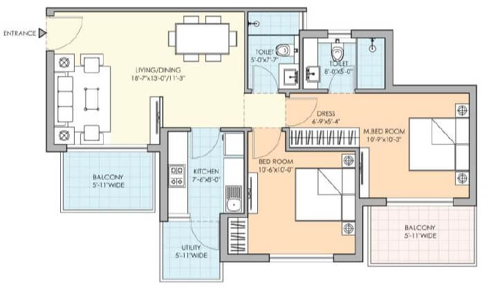 m3m natura apartment 2bhk 1200sqft 1