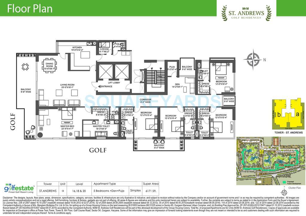 m3m st andrews golf residences apartment 5bhk 6171sqft 1
