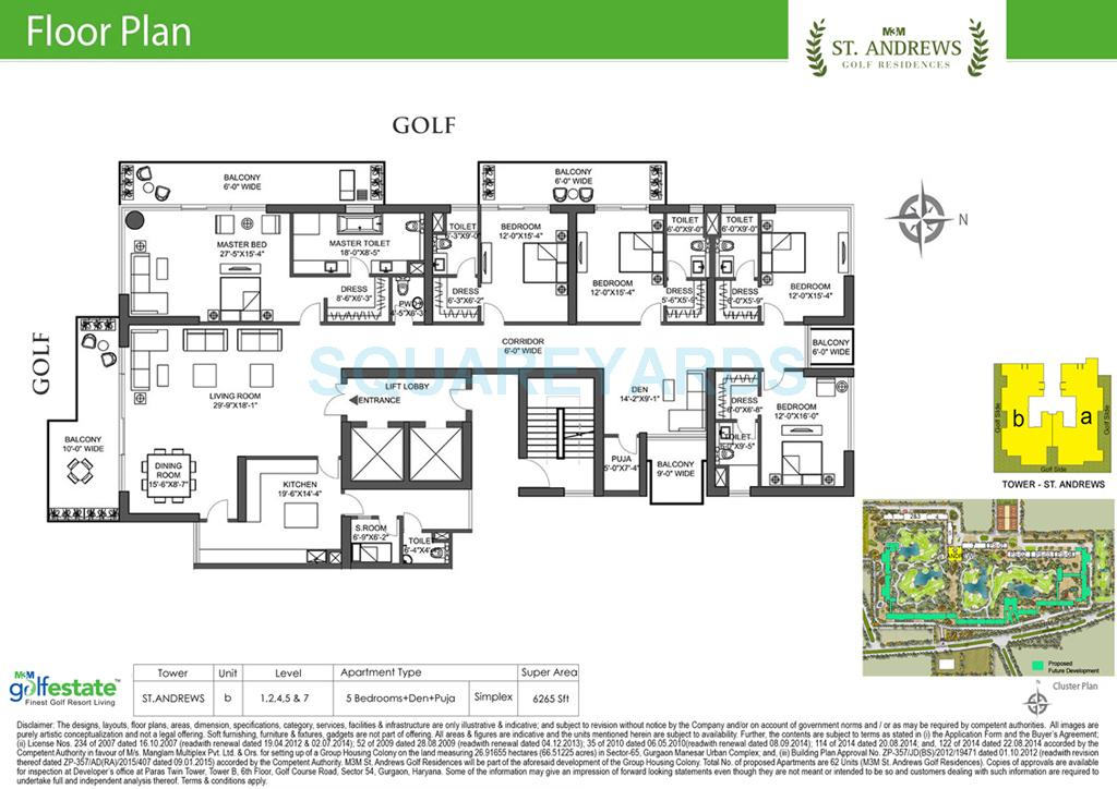 m3m st andrews golf residences apartment 5bhk 6265sqft 1