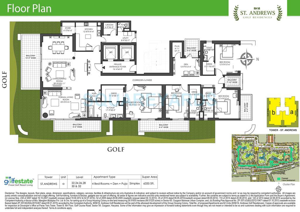 m3m st andrews golf residences apartment 5bhk 6335sqft 1