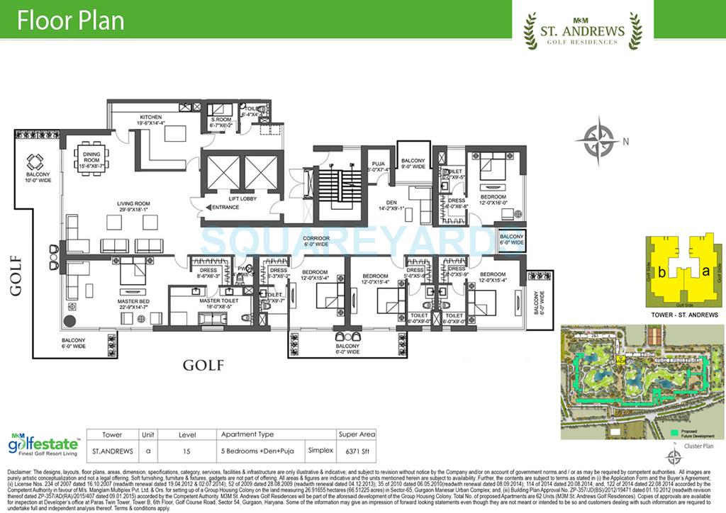 m3m st andrews golf residences apartment 5bhk 6371sqft 1