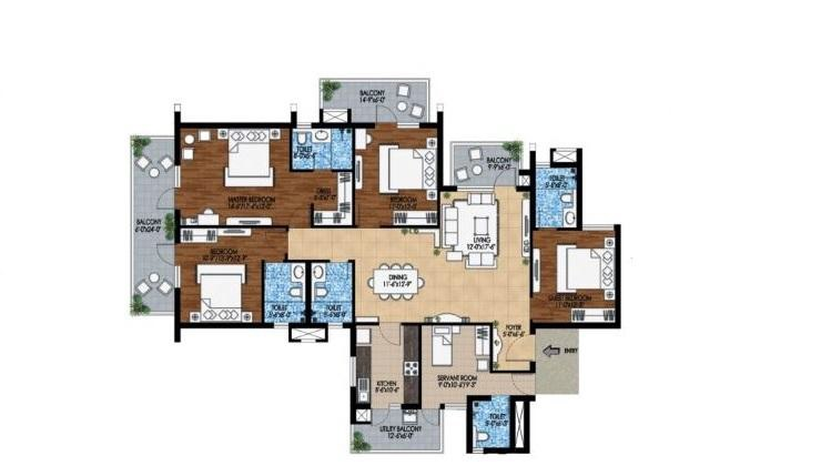 m3m woodshire apartment 4 bhk 3606sqft 20202001212039