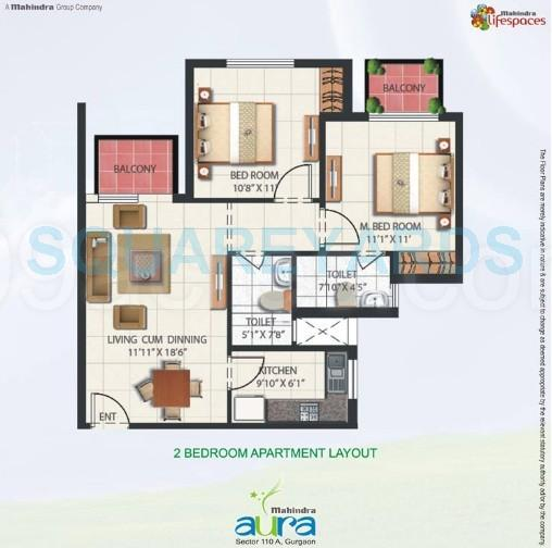 mahindra aura apartment 2bhk 950sqft 1