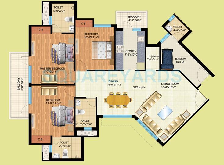 mapsko royale ville apartment 3bhk 1790sqft 1